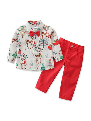 Boys Holiday Reindeer 2-Piece Set