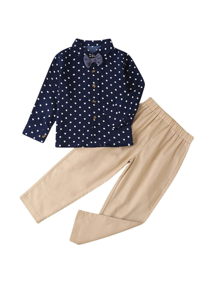 Boys Polka Dot 2-Piece Set