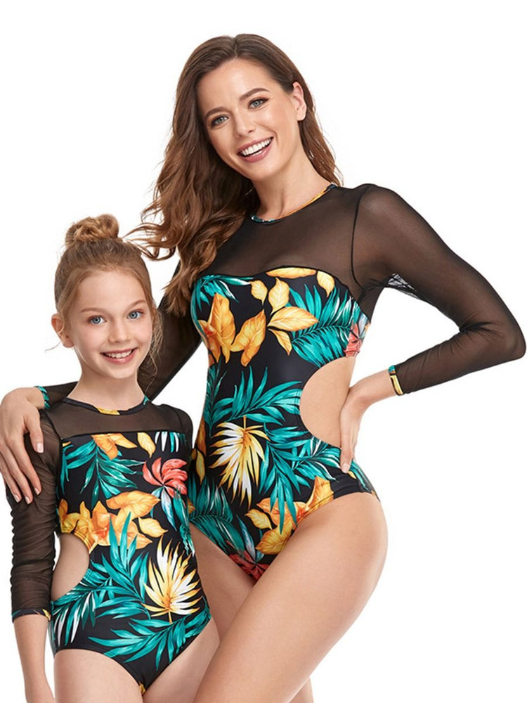 Tropical Palms Mommy and Me Swim Sets