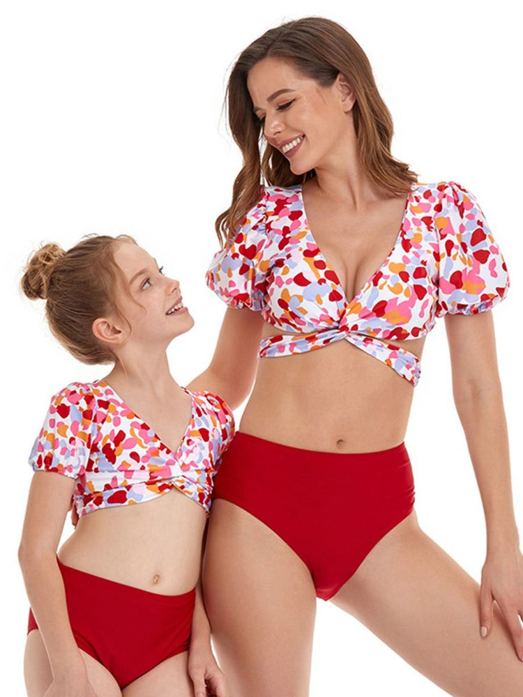 Multicolor Mommy and Me Swim Sets