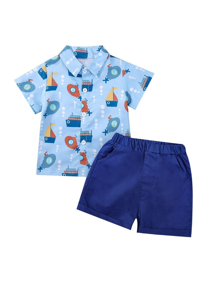 Boys Boats 2-Piece Set