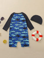 Boys Shark Swimsuit Set