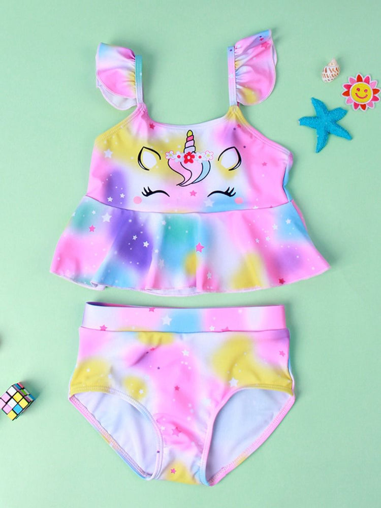 Girls Magical Unicorn 2-Piece Swim Set