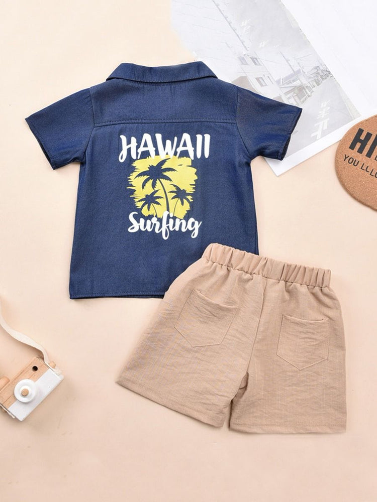 Boys Hawaii Surfing 2-Piece Set