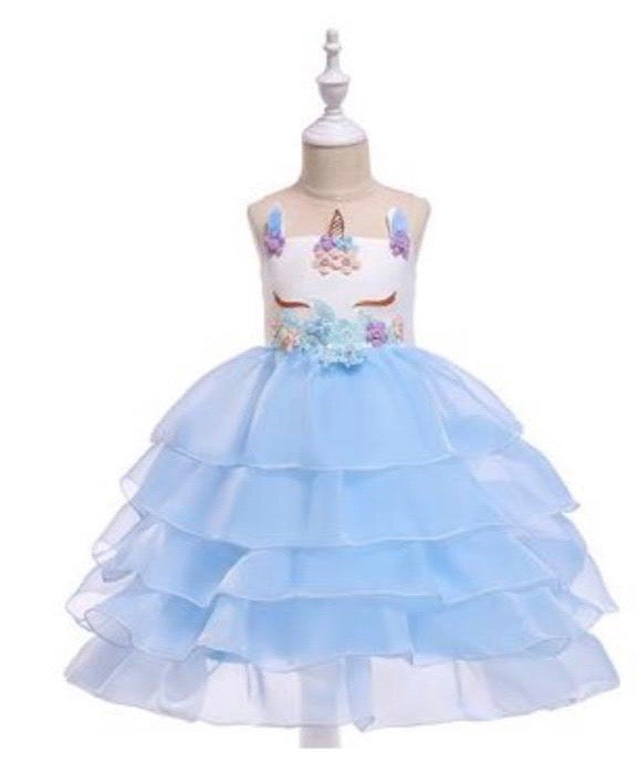 Girls Unicorn Tulle Dress