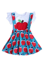 Girls Apple Tee & Skirtall Set