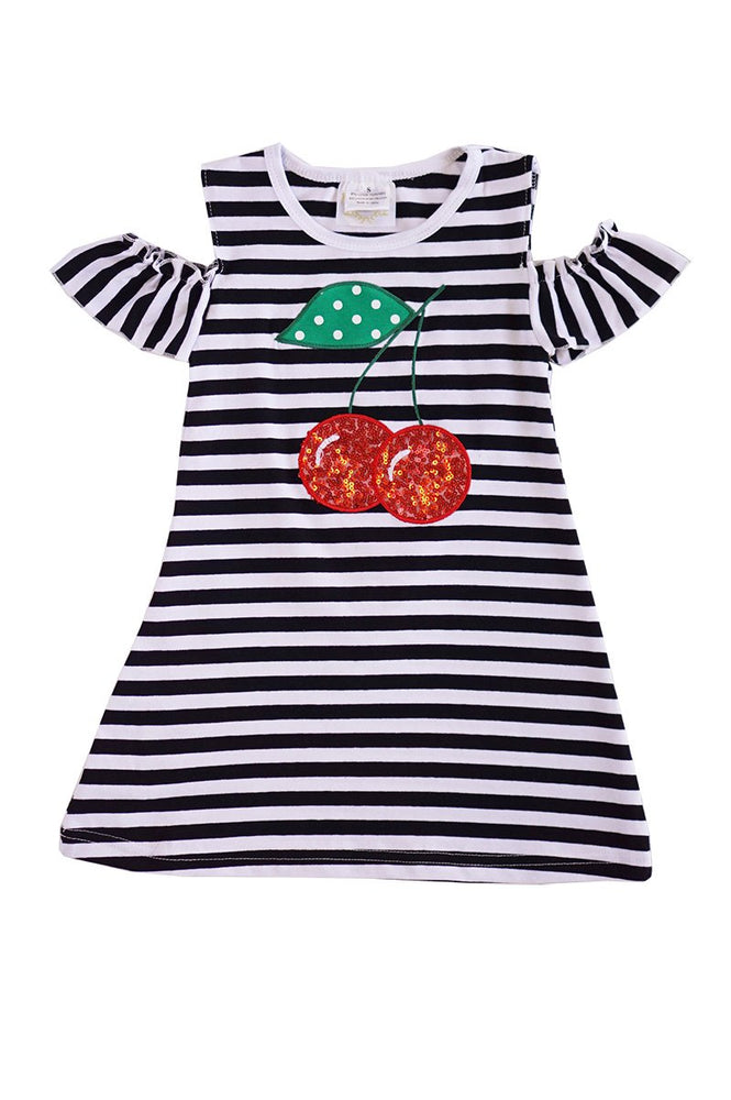 Girls Cherries & Stripes Dress