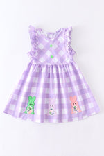 Girls Gingham Easter Dress