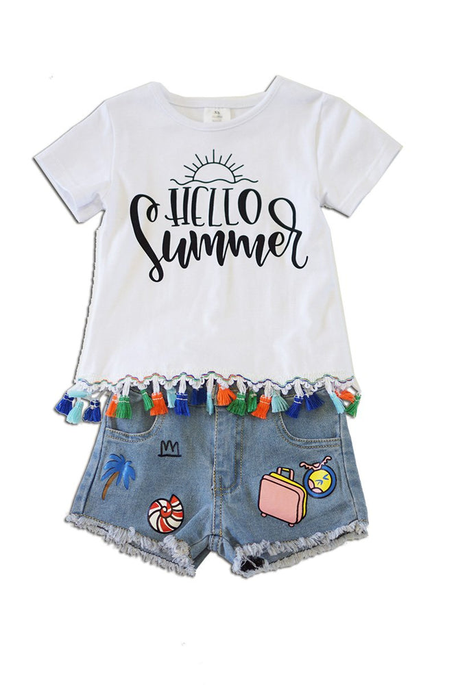 Girls Hello Summer 2-Piece Set