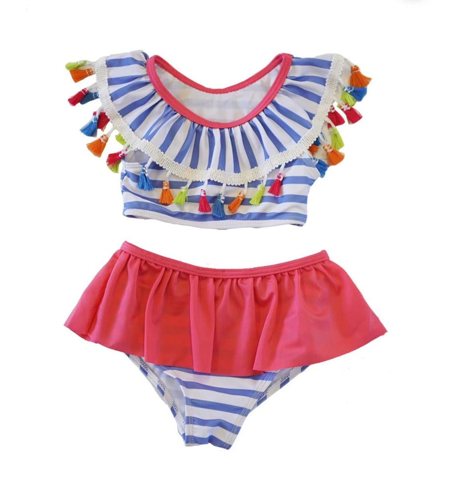 Girls Tassel 2-Piece Swimsuit Set