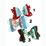 Girls Holiday Bow Hair Clips