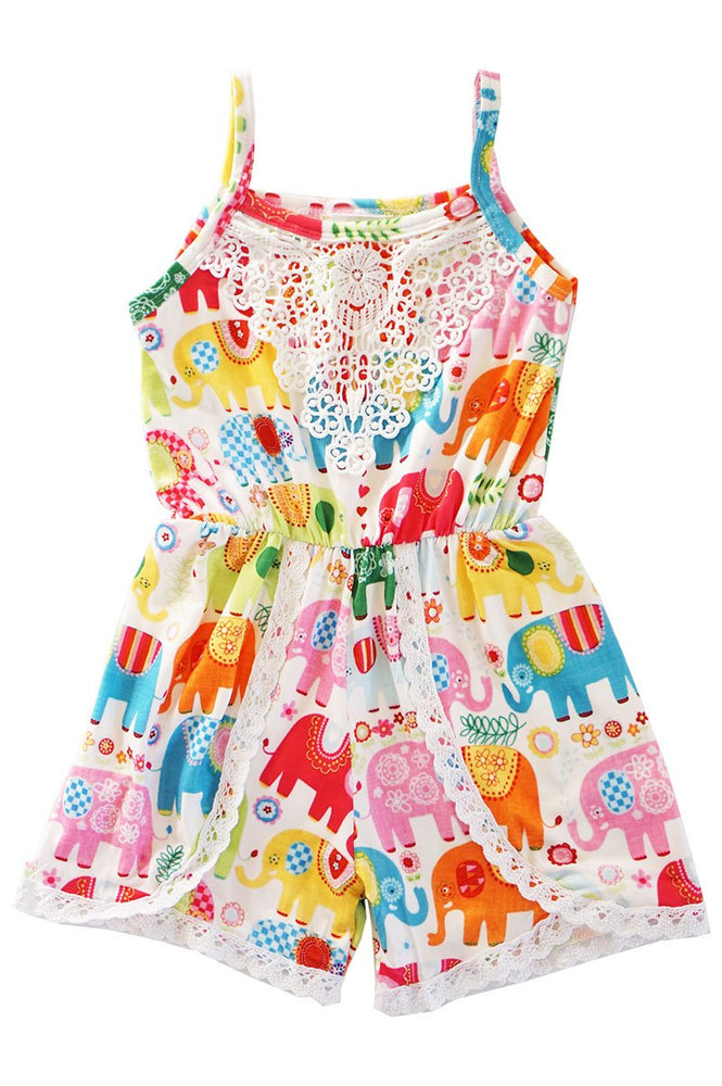 Girls Elephant Romper