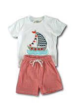Boys Sailboat 2-Piece Set