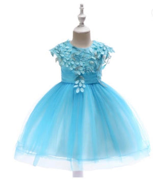 Girls Light Blue Tulle Dress