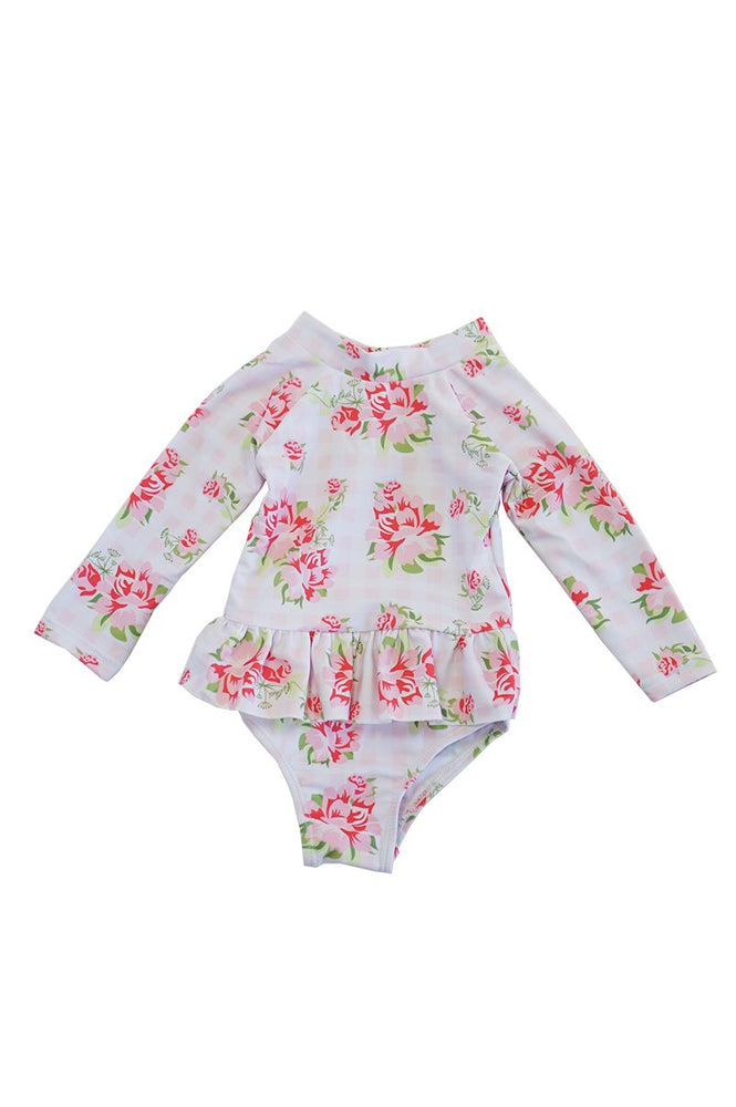Girls Roses Swimsuit