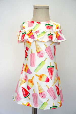 Girls Popsicle Print Dress