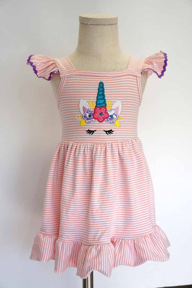 Girls Unicorn Flutter Dress