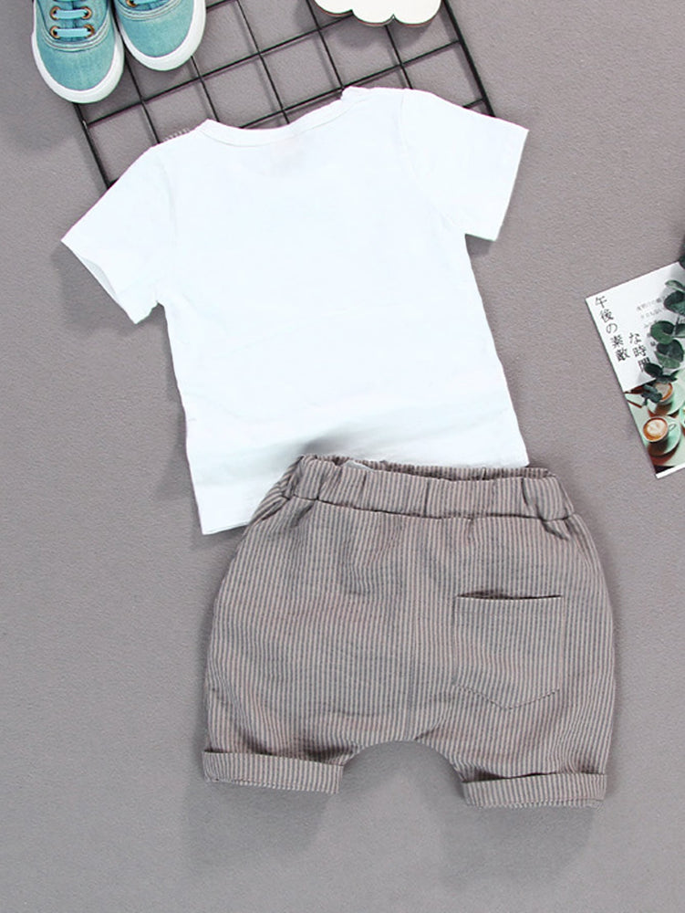 Boys Striped 2-Piece Set