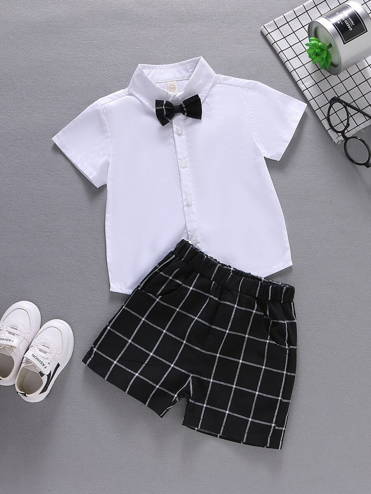 Boys Black and White 2-Piece Set