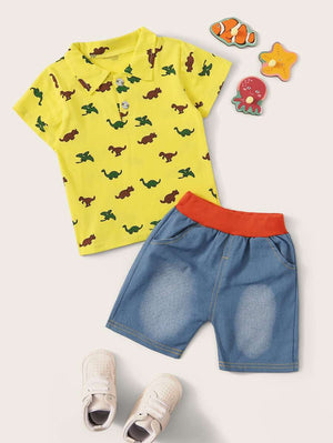 Boys Dinosaur 2-Piece Set