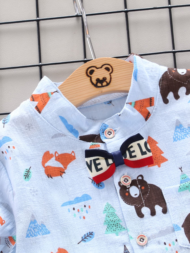 Boys Forest Animals 2-Piece Set
