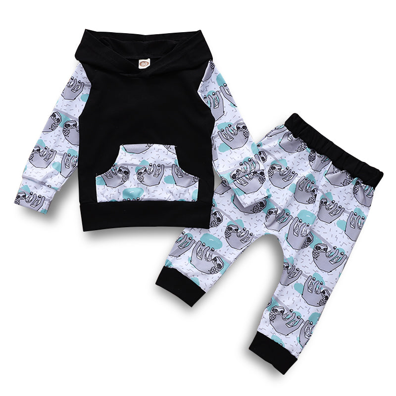 Boys Sloth Hoodie and Jogger 2-Piece Set