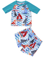 Boys Sailboat 2-Piece Swim Set