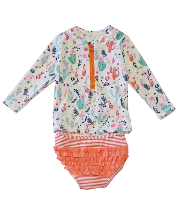 Girls Cactus 2-Piece Swim Set
