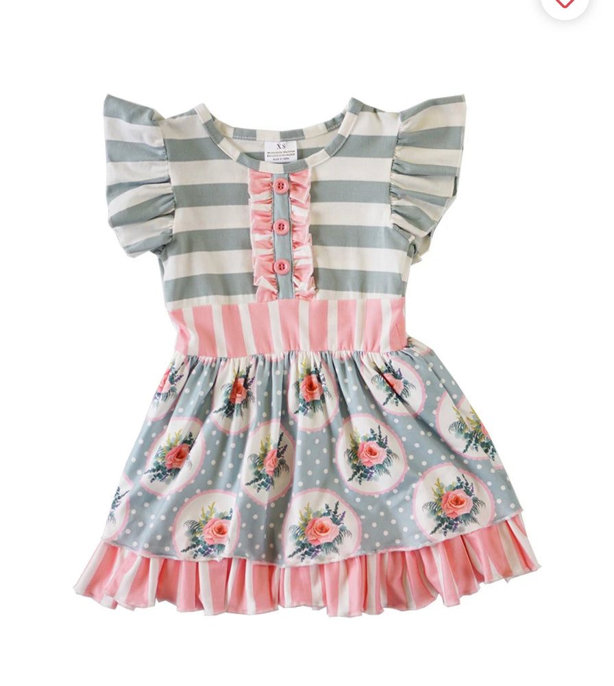 Girls Patchwork Dress