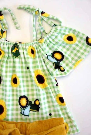 Girls Sunflower 2-Piece Set