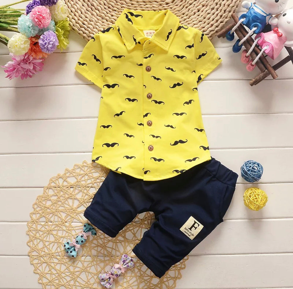 Boys Mustache 2-Piece Set