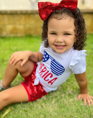 Girls 'Merica 2-Piece Set