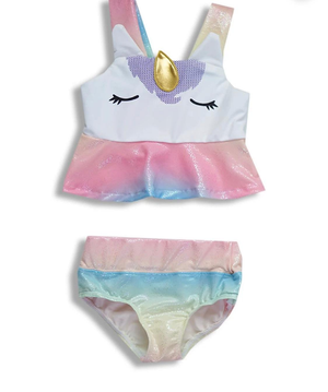 Girls Unicorn 2-Piece Swimsuit Set