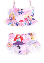 Girls Disney Princess 2-Piece Swimsuit Set