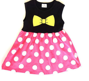 Girls Minnie Mouse Dress Set