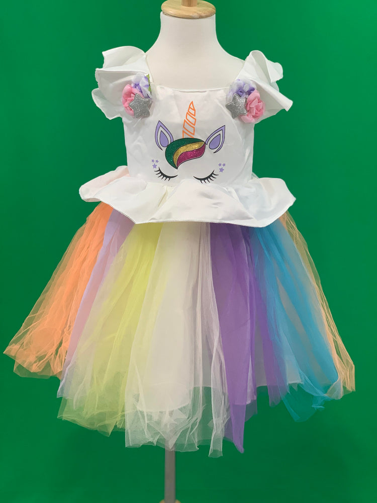 Girls Unicorn Princess Tulle Dress