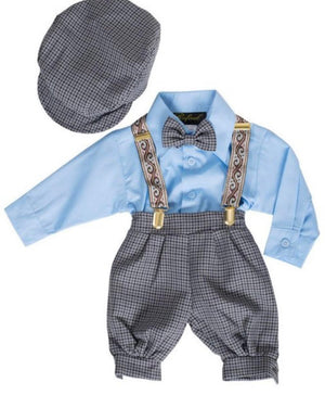 Boys Bowtie Suspender Set
