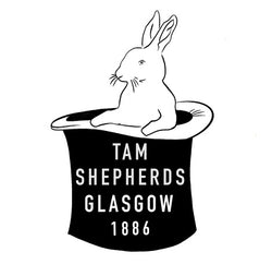 Tam Shepherds Glasgow 1886 Iconic Rabbit in Hat Logo