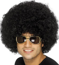 Load image into Gallery viewer, 70's Funky Afro Wig, Black