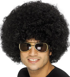 70's Funky Afro Wig, Black