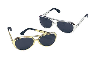 Gold Elvis Glasses