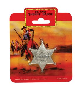 Sheriff/Cowboy Badge Metal