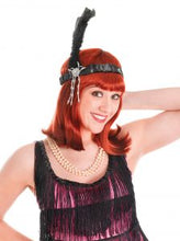 Load image into Gallery viewer, Flapper Headband (Black, White or Red)