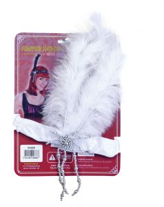 Flapper Headband (Black, White or Red)