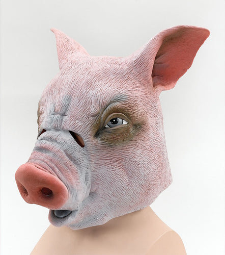 scary pig oversized rubber full face mask