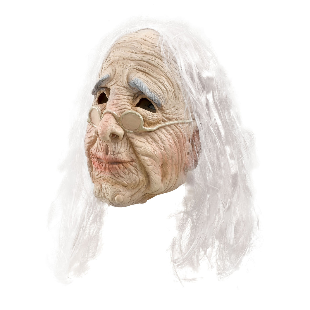 Old Woman Mask with Hair