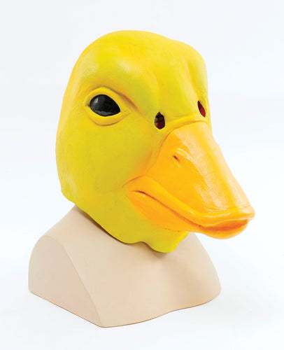 funny yellow duck rubber full face mask