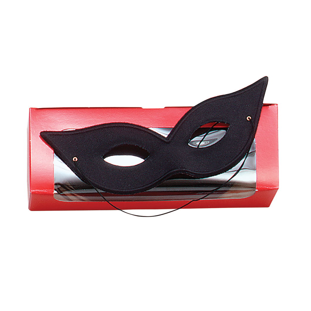 Flyaway Domino Black Mask