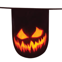 Load image into Gallery viewer, Creepy Pumpkin Bunting