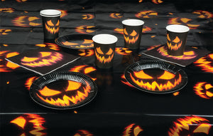 Creepy Pumpkin Table Set